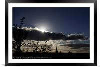 Norwich Cathedral Sunset, Framed Mounted Print