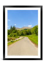 Loch Lomond at Rowardennan, Summer in Scotland, UK, Framed Mounted Print
