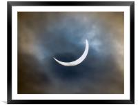 Solar Eclipse (20th March 2015), Framed Mounted Print