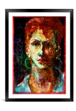 Placid Face Painting & Texture, Framed Mounted Print