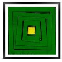 Almost Green, Framed Mounted Print