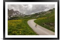 Montain Cycling Landscape, Framed Mounted Print