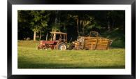 Tractor in the field, Framed Mounted Print