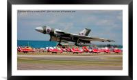 Vulcan leaves over the Red Arrows Arriving, Framed Mounted Print