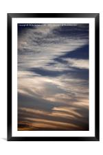 Evening Clouds 2 , Framed Mounted Print