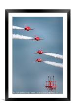 Red Arrows Pairs Crossover 2018, Framed Mounted Print