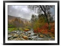 """Misty morning in the Lake District"", Framed Mounted Print"