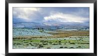"""""""Storm clouds and snow"""", Framed Mounted Print"""