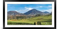 """Sunny day across the Lake District"", Framed Mounted Print"