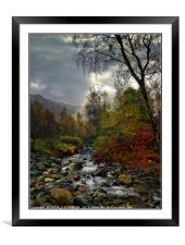 """""""Chink of light as the morning mists lift """", Framed Mounted Print"""