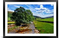 """""""The river Skirfare Littondale"""", Framed Mounted Print"""