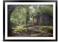 """""""Little Arbour in the woods"""", Framed Mounted Print"""