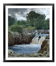 """Portrait of a waterfall"", Framed Mounted Print"