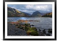 """Storm clouds gather at Buttermere"", Framed Mounted Print"
