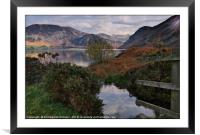 """Sun up at Ennerdale Water"", Framed Mounted Print"