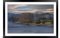 """""""Early evening mists at Crummock water"""", Framed Mounted Print"""