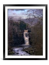 """Cool Winter evening at High Force"", Framed Mounted Print"
