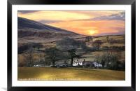 """""""Magic sunrise over Loweswater"""", Framed Mounted Print"""