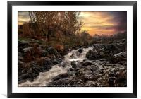 """Waterfall Ashness Bridge"", Framed Mounted Print"