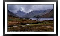 """March storms at Wastwater"", Framed Mounted Print"