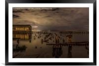 Waterside Dereliction, Framed Mounted Print