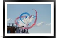 Red Arrows at the Royal International Air Tattoo 2, Framed Mounted Print