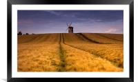 Chesterton windmill , Framed Mounted Print