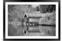 The Boathouse, Framed Mounted Print