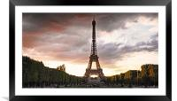 View from Champs des Mars, Framed Mounted Print
