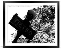 Parisian metro sign, Framed Mounted Print