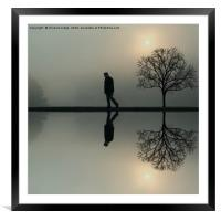 The man and the tree , Framed Mounted Print