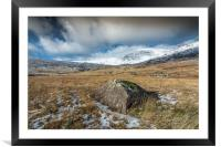 Blowing snow, Framed Mounted Print
