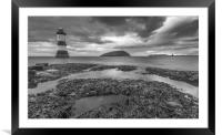 Lighthouse clouds, Framed Mounted Print