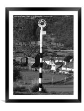 Sign post at Buttermere, Framed Mounted Print