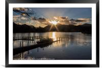Last Light Over Derwentwater, Framed Mounted Print