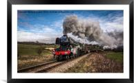 Flying Scotsman heading up Esk Valley, Framed Mounted Print