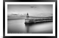 Whitby East Pier, Framed Mounted Print