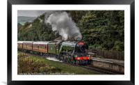 Flying Scotsman passing through Irwell Vale, Framed Mounted Print