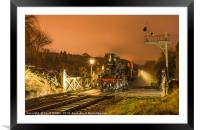 78022 waiting at Oakworth station on the KWVR, Framed Mounted Print