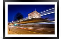 Norwich Castle at Night, Framed Mounted Print