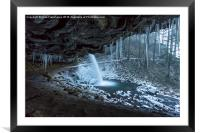 Sheltered from the blizzard, Framed Mounted Print