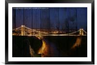 The Wooden Bridge, Framed Mounted Print