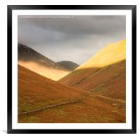 Last light on Knott Rigg, Framed Mounted Print