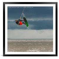 Riding high, Framed Mounted Print