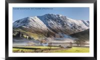 Hartsop In The Mist, Framed Mounted Print