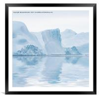 Cool Reflections, Framed Mounted Print