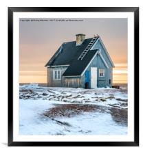 The Blue House at Rodebay, Framed Mounted Print