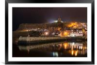 Whitby Harbour Reflections, Framed Mounted Print