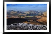Views from Snowdon, Framed Mounted Print