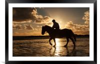 Horse on the beach, Framed Mounted Print